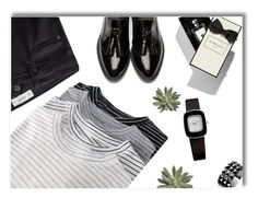 """""""One Direction: Striped Shirts"""" by deeyanago ❤ liked on Polyvore featuring MANGO, Jo Malone, Burberry, ELLE Time & Jewelry, Waterford and stripes"""