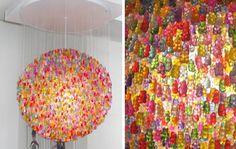 Gummy bear chandelier? Yes please.