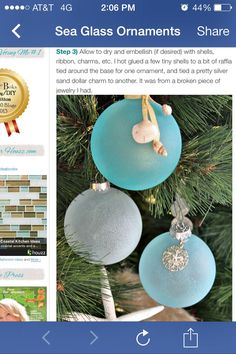 How to make Sea Glass Ornament