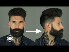 How to Style a Natural Pompadour with Skin Fade | Carlos Costa - YouTube