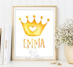 Personalized Name Print Nursery decor Art Wall Decor personalized newborn print calligraphy Custom Name baby girl princess baby name 51 by LittleEmmasFlowers on Etsy https://www.etsy.com/listing/246526296/personalized-name-print-nursery-decor