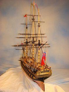 HMS Bellona scale model ship