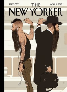"""2016-04-11 - The New Yorker """"Take the L Train,"""" by Tomer Hanuka."""