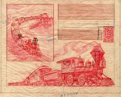 Train Illustration, Walt Disney Imagineering, Disneyland Park, Walt Disney Company, Childrens Hospital, Vintage Disney, Little Red, Old Things, Animation