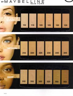 Maybelline Fit Me Guide
