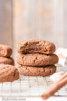 These Soft Gingerbread Cookies are chewy with tons of flavor from the molasses & warm spices. These gluten-free, paleo & vegan cookies are sure to be a hit.