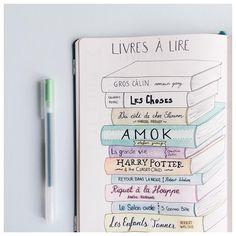 Ma pile à lire de l'été  Plus que 2 livres à lire. Et vous, que lisez-vous en ce moment? • My summer reading list  Still 2 books to go. And you, what are you reading at the moment? . . . #bulletjournal #bujo #list #reading #bookworm #book #bookstagram #livre #colors #colorful #drawing #doodle