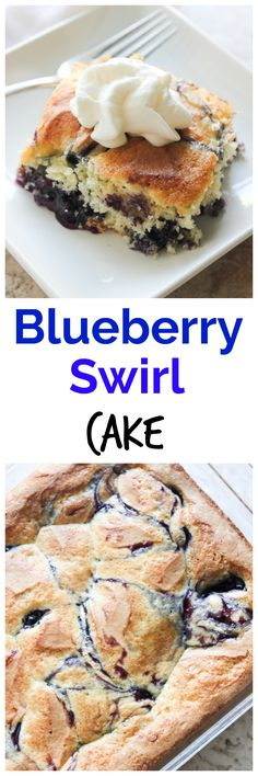 This Blueberry Swirl Cake takes only five minutes to prepare and is a great easy dessert to have in your recipe box!