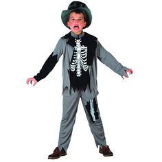 DisfracesMimo, disfraz de zombie esqueleto niño varias tallas. Los pequeños lo pasarán de muerte asustando a los mayores en la noche de Terror y halloween. Este disfraz es ideal para tus fiestas temáticas de miedo y zombie para infantil.