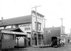 1914: The Country Inn roadhouse. Pictured in a Webster & Stevens photo. Photo id 1983.10.8203.  Photo Copyright Museum Of History & Industry