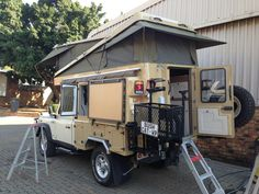 Land Rover with Abba Camper