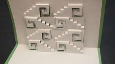 How to make Swirly Steps Pop up Card Kirgami!