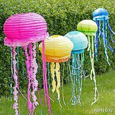 Jelly Fish Hanging Lanterns