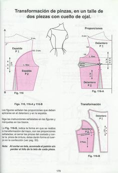 Learn cutting clothes for girls and adults (translated from Spanish) There Are Up To 150 Pattern Drafts On This Page - Fernanda - Picasa Webalbums Sewing Hacks, Sewing Tutorials, Sewing Crafts, Sewing Projects, Clothing Patterns, Dress Patterns, Sewing Patterns, Pattern Cutting, Pattern Making