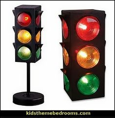 Traffic Light Signal Lamps-transportation theme bedroom decor