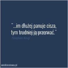 Im dłużej panuje cisza. Ig Captions, Life Sentence, Life Quotes, Thoughts, Feelings, Sayings, Words, Quotes, Quotes About Life