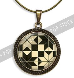 1-Inch Circle Rounds Collage Sheet - Black and Tan Geometrics - For Pendants, Magnets & Wine Charms - Inchies Circles PDF - 1-Inch