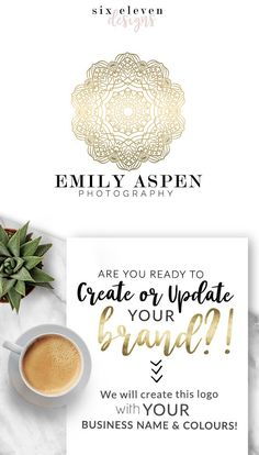 130  Emily Aspen  LOGO Premade Logo Design Branding Blog - SIX ELEVEN DESIGNS - Premade Logos on Etsy - Modern Branding Solutions for your business - Logos for your business, boutique or blog. Blogger header, Blog Header and social media. Photography Logos, Business Logos, Boutique Logos, Shop Logos, Brand Logos.