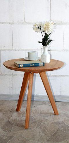 Telefontisch Beistelltisch rund 50cm Nachttisch holz Kernbuche massiv geölt in Möbel & Wohnen, Möbel, Tische | eBay!