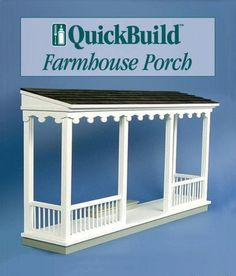Kits De Porche Premade - Quickbuild Farmhouse Porch Kit Porch Kits House With Porch Front Door Portico Kits Wooden Porch Canopy Door Awnings Railing Premade Deck Porch Ideas T. Porch Kits, Porch Ideas, Building A Porch, House With Porch, Decks And Porches, Screened In Porch, Front Porches, Patio Roof, Pergola Roof