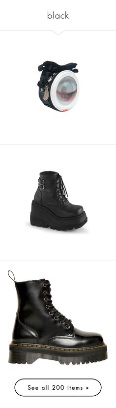 """black"" by slugboi ❤ liked on Polyvore featuring bags, handbags, accessories, shoes, boots, ankle booties, high heel bootie, black bootie boots, high heel booties and black booties"