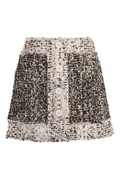 Christopher Kane Metallic Bouclé Tweed Mini Skirt, $1,295; net-a-porter.com