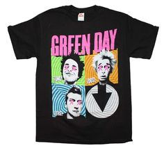 Green Day Spiral Four T-Shirt Small - X-Large