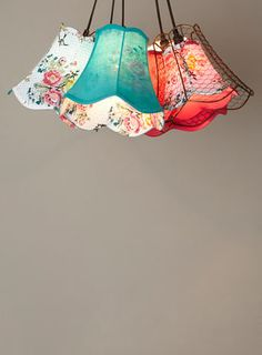 Bhs Lamp Shade: BHS // Vinatge // Cordelia 5 Light Shade Cluster // Collection of colour,Lighting