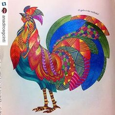 Animal Kingdom rooster page - shading patterning