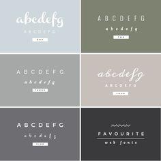 favourite web fonts / irene victoria