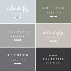 favourite web fonts