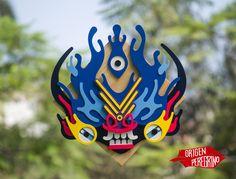 Máscara de laDiablada de agua
