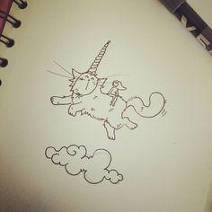 Un petit wip... Envie de croquis ! Envie de rêver... Quand mrou rêve d'être une licorne et moi de voler... sur son dos #ilovemycats #ihadadream #pattesdevelours ♥ #peaceandlove #sketch #croquis #cats #unicorn #wip #mrou #licorne Illustrations, Illustration Art, Photo Chat, Bullet Journal, Kitty, Lol, Instagram Posts, Decor, Cats