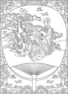 Free coloring page coloring-life-in-japan-tradition. coloring-life-in-japan-tradition