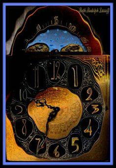 """Grandfather's Clock"" Distortion Photography/Perspective Distortion, distorted image of a grandfather clock. artsy, vintage"