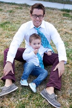Every little man needs a tie that matches his daddy!