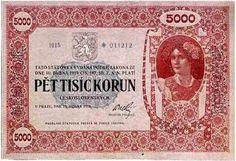 Banknote, European Countries, Czech Republic, Coins, Retro, Collection, Paper Envelopes, Art, Pennies