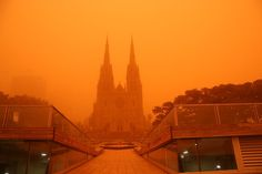 "flexiblefish: "" schwarmerei1: "" end0skeletal: """" In 2009, an iron-rich dust storm 300 miles wide and 600 miles long moved across Australia, bathing Sydney in an eerie red hue. Lasting three days, the..."