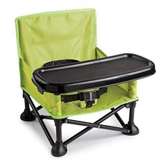 Portable, fold-up booster seat with tray!  Great for picnics, travel, camping, daycare.