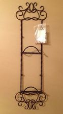 Southern Living At Home Harrison Plate Rack Metal One Piece Black NEW IN BOX