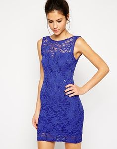 Lipsy Sequin Lace Body-Conscious Dress