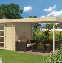 The Oletha modern gazebo log cabin with sides canopies of in wall logs from Tuin Deck With Pergola, Covered Pergola, Pergola Kits, Pergola Cover, Garden Structures, Outdoor Structures, Epdm Roofing, Modern Gazebo, Roof Boards