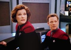 "The last time I heard the words ""my mind to your mind"", I had a headache for two weeks. Star Trek 4, Star Trek Voyager, Great Love Stories, Love Story, Captain Janeway, Kate Mulgrew, Major Crimes, Star Trek Universe, Her Smile"