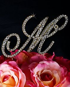 Unik Occasions Victorian Crystal Rhinestone Wedding Cake Topper Small Letter M Gold ** Be sure to check out this awesome product.