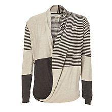 Buy Max Studio Block Stripe Knit, Black/Heather Charcoal Online at johnlewis.com