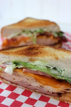 Applebees Clubhouse Grille Sandwich Recipe with delicious meats, cheese, and sauces.