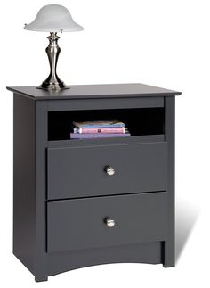 2-drawer-tall-nightstand-with-open-cubbie-in-black-modern-nightstand-plus-2-drawers-with-round-drawers-knob-in-chrome-solid-wood-nightstand-in-black-luxury-black-nightstand-for-bedside-contemporary-ta.jpg (1094×1500)