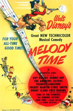 10) Melody Time (1948) watched 2/5/14 ~Another one never seen by me! There were a few segments I really like in this one. pinned from {TBT: See All 53 Walt Disney Animation Movie Posters | Oh My Disney}