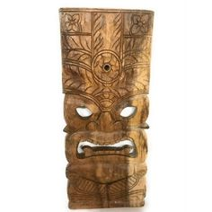 Kane Tiki Mask | Natural Finish 18""