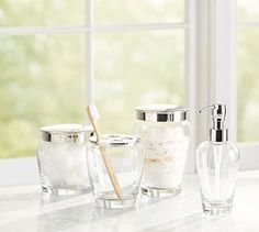 Ultimate Bath Accessories - Clear Glass #potterybarn